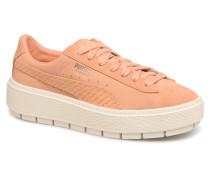 Platform Trace Animal Sneaker in orange