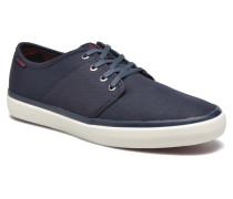 Jack & Jones JJ Turbo Waxed Canvas Sneaker in blau
