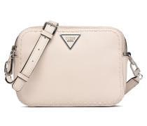 Sawyer Crossbody Top Zip Handtasche in beige