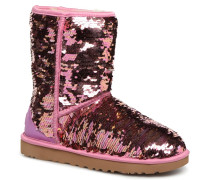W Classic Short Sequin Stiefeletten & Boots in rosa