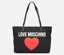 THE CANVAS HEARTS CABAS Handtasche in schwarz