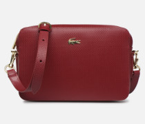 CHANTACO CUIR SQUARE CROSSOVER BAG Handtasche in weinrot