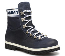 TOMMY JEANS CANVAS SUEDE BOOT Stiefeletten & Boots in blau