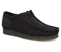 Wallabee Schnürschuhe in schwarz