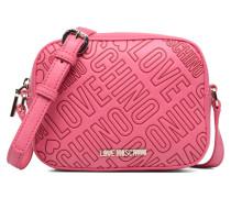 Embossed logo Crossbody Handtasche in rosa