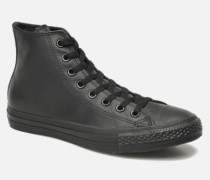 Chuck Taylor All Star Mono Leather Hi M Sneaker in schwarz