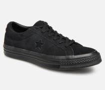 One Star Soft Suede Ox Sneaker in schwarz