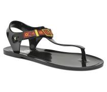 Bouclette Sandalen in schwarz
