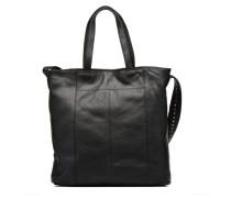 SANDRA Cabas cuir Handtasche in schwarz