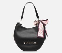 LETTERING HOBO Handtasche in schwarz