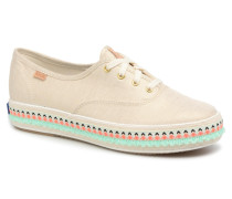 Triple Hula Foxing Sneaker in beige
