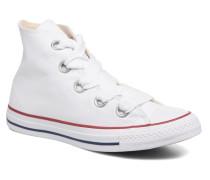 Chuck Taylor All Star Big Eyelets Canvas Hi Sneaker in weiß