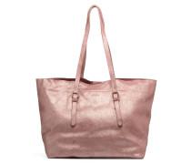 Venus Leather Shopper Handtasche in rosa
