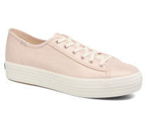 Triple Kick Metallic Linen Sneaker in rosa