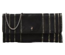Pochette suédée S Handtasche in schwarz