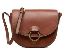 Ivana Leather Crossbody Handtasche in braun