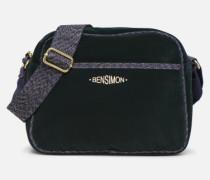 SHINY VELVET SMALL BESACE Handtasche in grün