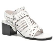 MACKENZY Sandalen in weiß