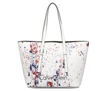 CK Zone Medium Shopper Handtasche in weiß