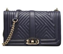 Geo quilted Love Crossbody Handtasche in blau