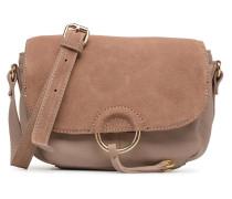 Joline Leather Crossbody Handtasche in beige