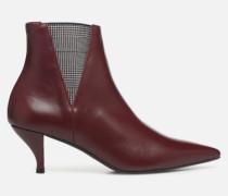 Retro Dandy Boots #8 Stiefeletten & in weinrot