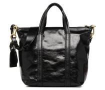 Cabas Zippé Double porté Handtasche in schwarz