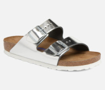 Arizona Cuir Soft Footbed W Clogs & Pantoletten in silber