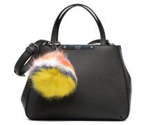 Britta Small Society Satchel Pompom Handtasche in schwarz