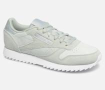 Classic Leather Ripple Sneaker in grün