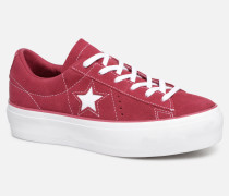 One Star Platform Lift Me Up Ox Sneaker in weinrot