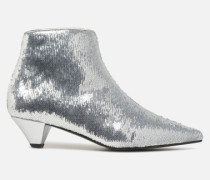 80's Disco Girl Bottines à Talons #2 Stiefeletten & Boots in silber