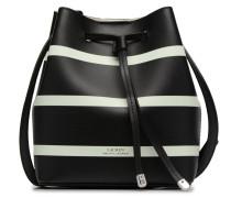 Debby II Drawstring Mini Handtasche in schwarz