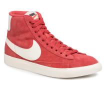 Wmns Blazer Mid Vntg Suede Sneaker in rot