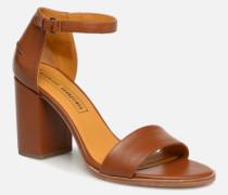Sandales à talon Sandalen in braun