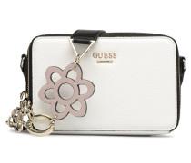 Dania Mini Crossbody Top Zip Handtasche in weiß