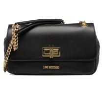 Porté épaule Fashion Quilted Handtasche in schwarz
