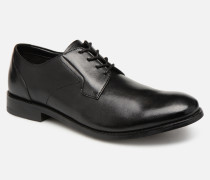 EDWARD PLAIN Schnürschuhe in schwarz