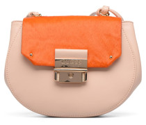 MAELLE Leather Crossbody flap Handtasche in rosa