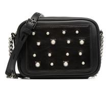Cat Pearl Small Crossbody Handtasche in schwarz