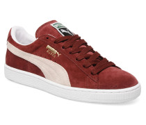 Suede Classic + Sneaker in weinrot