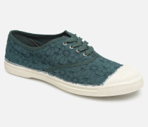 Tennis Lacet Broderie Anglaise Sneaker in grün