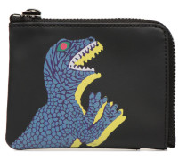 Men Wallet CRN Zip Dino in schwarz