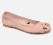 Vmfreya Leather Ballerina Ballerinas in rosa