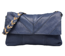 Gisele Leather Crossbody Handtasche in blau