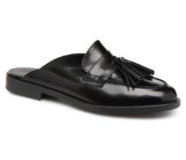 MULE CUIR Clogs & Pantoletten in schwarz