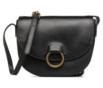 Ivana Leather Crossbody Handtasche in schwarz