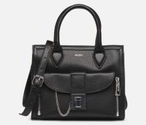 OVAL Handtasche in schwarz
