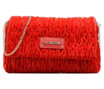Pochette Chaine Velvet Handtasche in rot