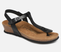 Ashley Cuir W Sandalen in schwarz